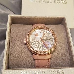 4987818bb789 Michael Kors Accessories - MK rose gold tone flower face watch